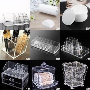 Clear-Acrylic-Makeup-Case-Cosmetic-Organizer-Drawer-Storage-Jewelry-Cabinet-JO