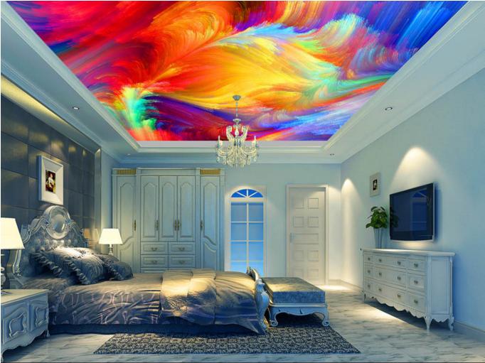 3D Art Style Farbe 7 Ceiling WallPaper Murals Wall Print Decal Deco AJ WALLPAPER