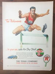 Original-1948-Magazine-Print-Ad-TEXACO-Sky-Chief-Top-Performance