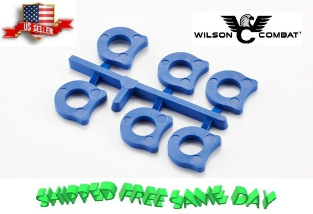 Wilson Combat 2B Factory Blue 6 Pack Replacement Shok Buff Recoil Buffers 1911