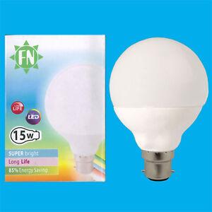 1 X 15w (=100w) Led G95 Globe Décor 6500k Blanc Jour Bc B22 Lampe Ampoule CoûT ModéRé