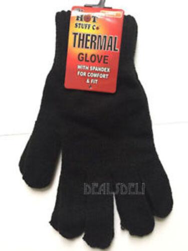Femmes Thermique Gants Taille Unique Noir