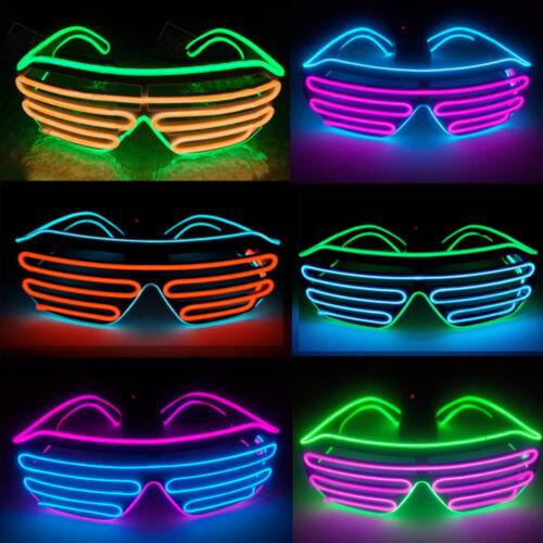 LED Gläser Light Up Shaped Glasses Partybrille Leuchtbrille Controller Party CH