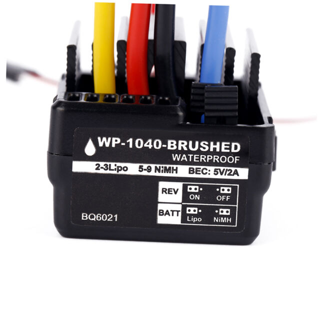 WP 1040 60A Waterproof Brushed ESC Controller for Hobbywing Quicrun Car Motor MW