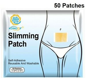 Slimming-Patch-Tummy-Stick-On-Navel-Belly-Fat-Burner-Weight-Loss-Patches-50-PACK