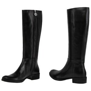 Détails sur GEOX RESPIRA MENDI bottes hauts chaussures pour femmes talon  cuir boots dames f502c6bc6203