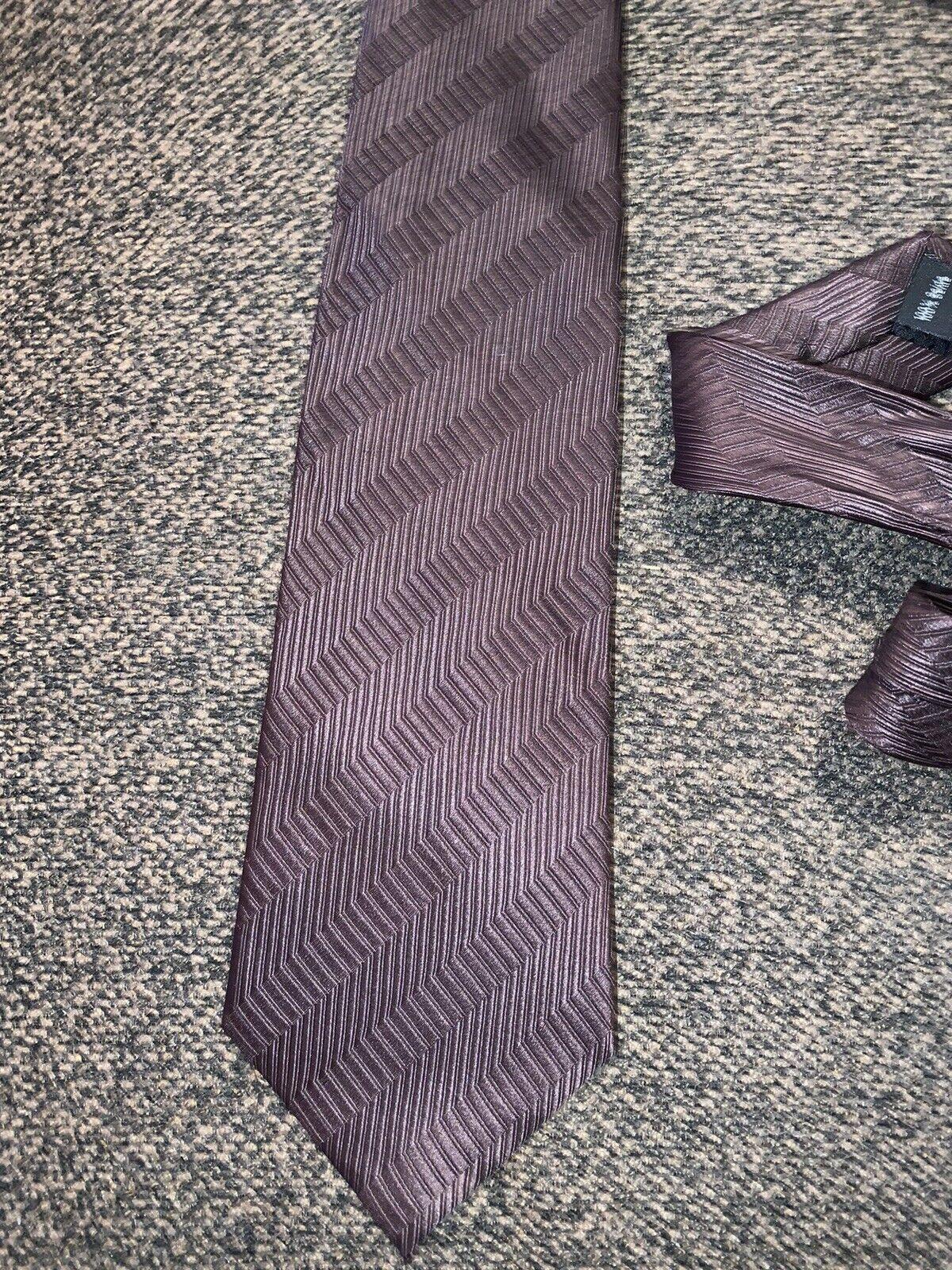 Krawatte 100% Seide Royal Class modern edel braun gemustert