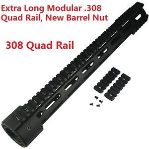 "Super Slim 16.5/"" Low Profile Free Float M-LOK Handguard Full Top Rail F 308 .308"