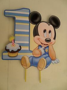 Baby Mickey Mouse First Birthday Cake Topper or Centerpiece eBay