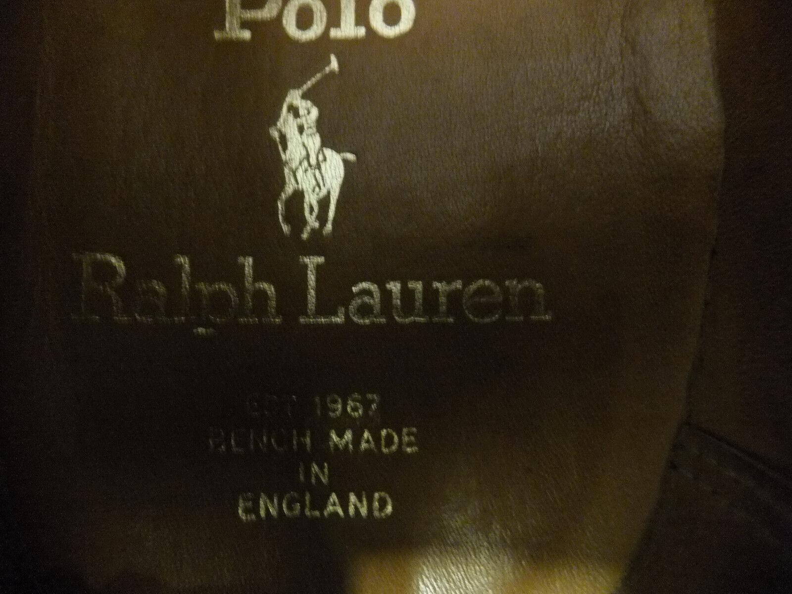 Rarität Rarität Rarität POLO Polo Ralph Lauren Herren Halbschuhe Gr. 9,5 weiß/blau & rote Sohle! 1f7566