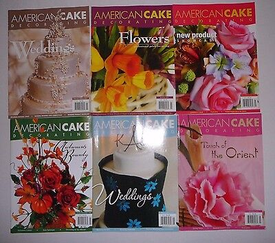 6 Lot AMERICAN CAKE DECORATING MAGAZINE,2005-2006 Issues B33