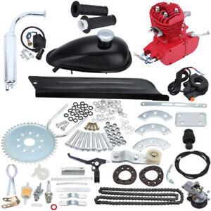 Bicycle-2-Stroke-80cc-Petrol-Gas-Motorized-Engine-Bike-Motor-Kit-Red
