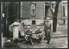 "1908 SPRINGFIELD RACE RIOTS ""Machine Guns in the Street"" Vintage Photo"