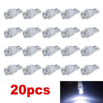 20pcs t10 led 194 168 smd w5w car wedge side light bulb lamp dc 12v