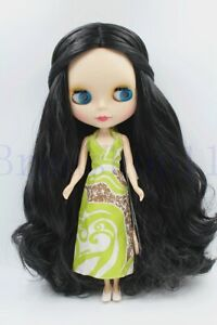 New-12-034-Neo-Blythe-Doll-from-factory-Long-Black-Curly-hair-for-DIY-Gift-Toy