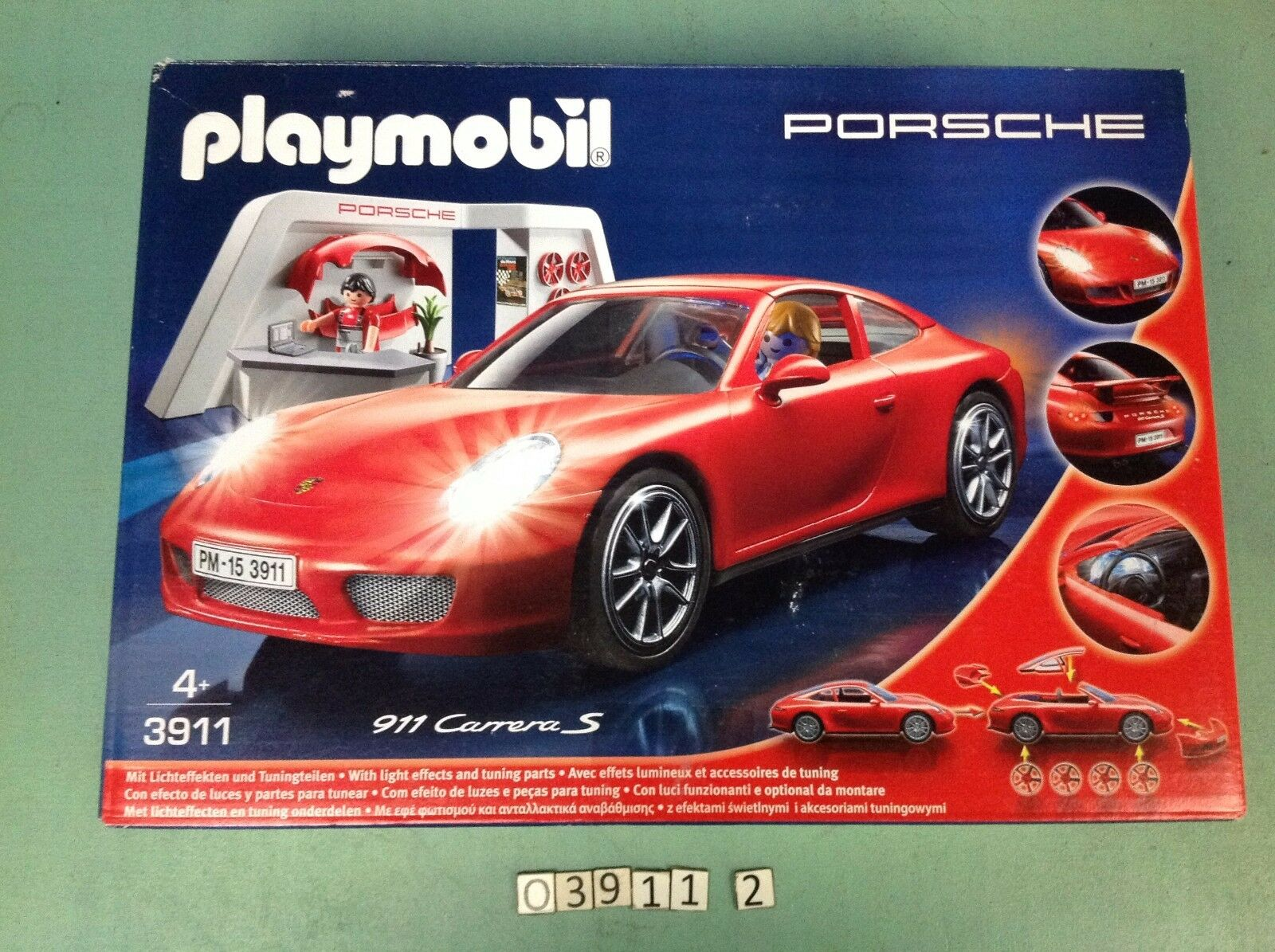 (O3911.2) playmobil voiture porche carrera S 911 ref 3911 boite complète