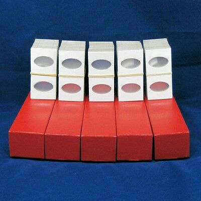 500 Cardboard 2x2 Coin Holder Mylar Flips for Small Dollars 5 Storage Boxes
