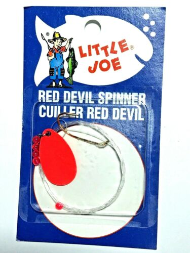 Lindy Little Joe Flo Red #2 Spinner Minnow Worm Rig Fishing Harness #LR322