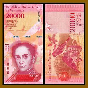 Venezuela Banknotes 20.000 Bolívares 2017 P-99b Bird UNC