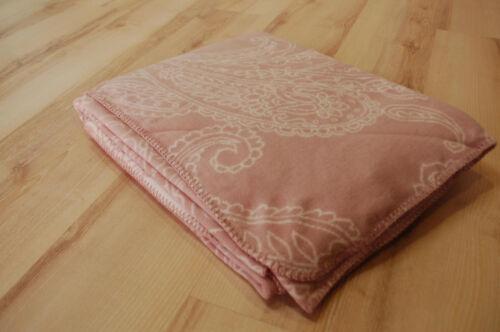 Biederlack Couverture Couverture Plaid Soft Impression Reserved Rose Crème 150x200cm