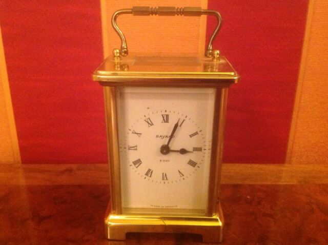 Vintage Bayard French 8-day Carriage Clock  Brass Case - Duverdrey & Bloq