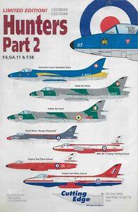 Hawker Hunters Pt. 2 F.6,GA-11 & F .58 1/72 Cutting Edge 72044