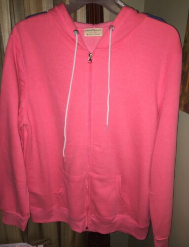 Bobbie Brook/'s Women/'s Full Zip Hoodie Jacket SZ 2X  Hot Pink w// Pockets