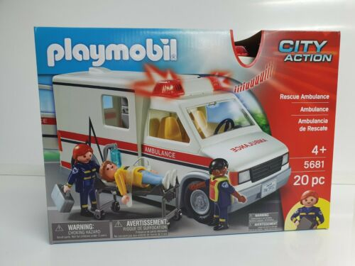 Playmobil Ambulance 5681 20 Pieces Brand New Free UK Postage City Action
