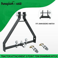 3 Point 2 Hitch Receiver Cat 1 Tractor Towing Drawbar Adapter For John Deere