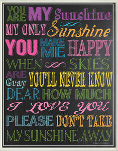 You Are My Sunshine - Black Wood Sign - 16x20