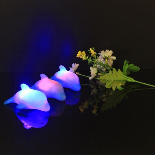 1PC Wasser LED Licht Leuchten Dolphin Kinder Schwimmen Bad Spielzeug Geschenk