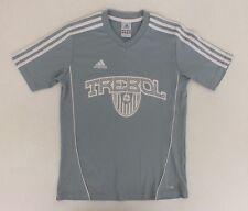 Adidas Trebol Light Blue V-Neck Athletic Shirt Youth Size Medium Fast Shipping
