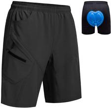 DEMOZU Mens Mountain Bike Shorts Loose Fit 3D Padded MTB Cycling Shorts