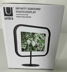 "UMBRA 4"" x 6"" Photo Display NEW IN PACKAGE Infinity Sqround Black"