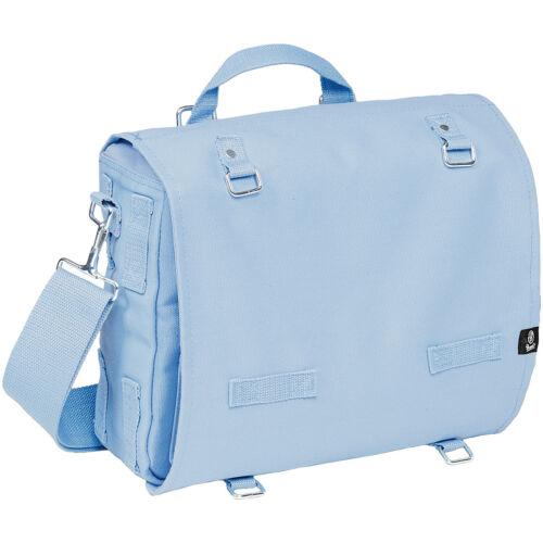 BRANDIT CANVAS COTTON BAG MARINE SHOULDER PACK LARGE TRAVEL MESSENGER LIGHT BLUE