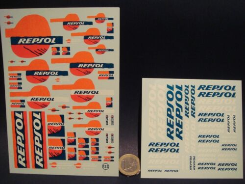 "VIRAGES  T133 DECALS 1//24  LOGOS /"" REPSOL /"" FLUO"