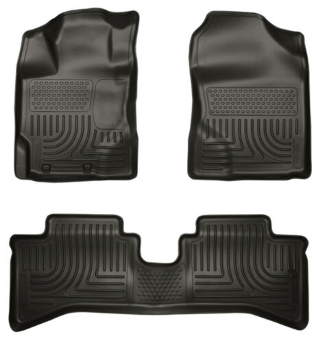 Husky Liners Black Front /& 2nd Seat Floor Liners for 12-14 Toyota Prius C