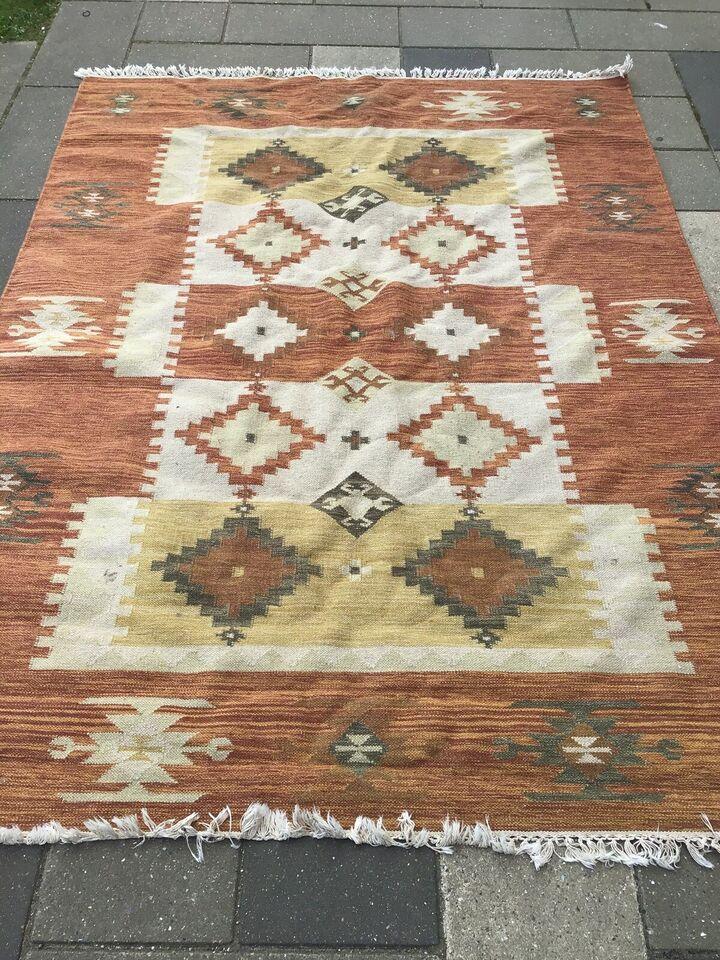 Gulvtæppe, ægte tæppe, b: 174 l: 230