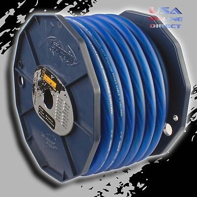 0 Gauge Blue Power Ground OFC Wire Strand Copper FLAT Marine Cable 1//0 AWG US