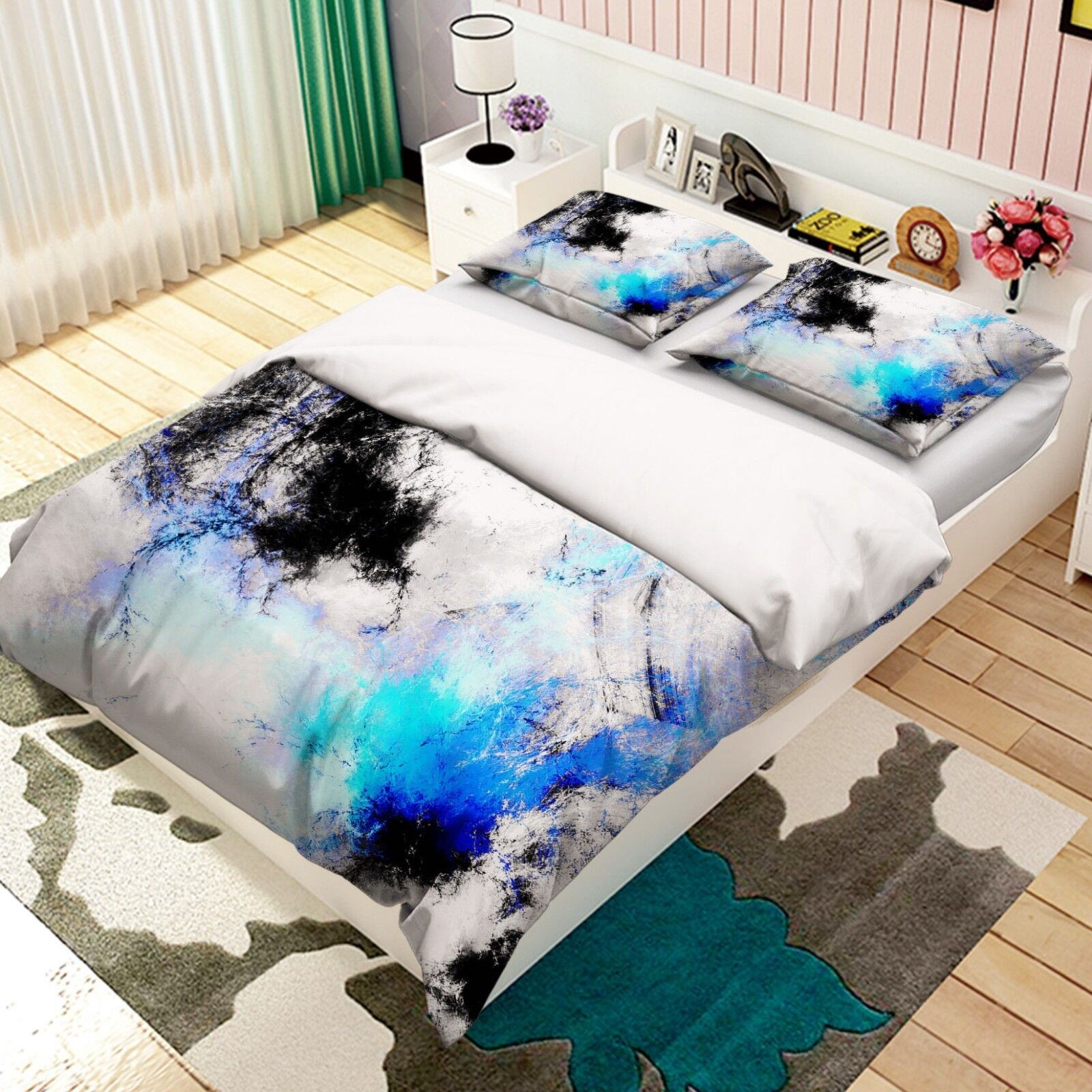 3d astratto graffiti 52 LETTO FEDERE steppe duvet set soffitto Single de