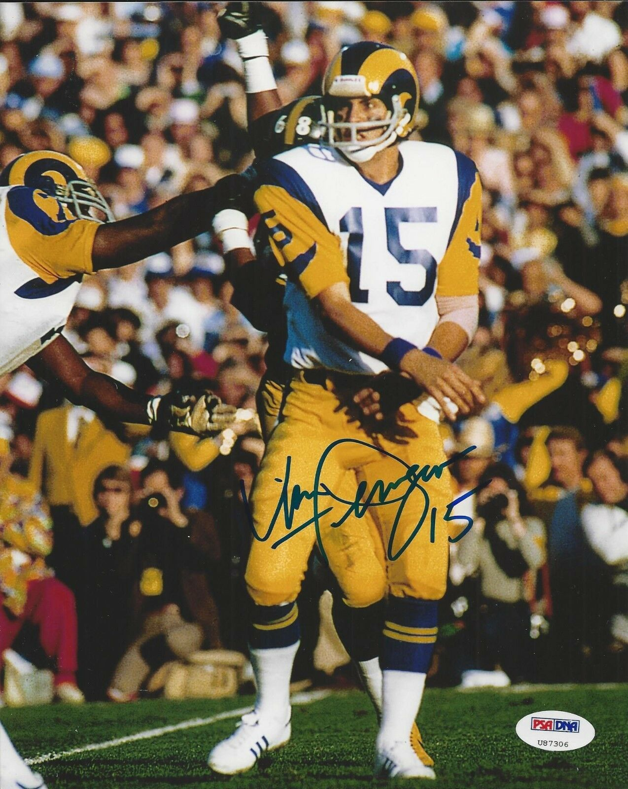Vince Ferragamo Los Angeles Rams Signed 8x10 PSA/DNA #U87306