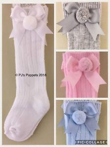 Romany Spanish unisex 3//4 High Socks by pom pom Age Newborn to Age 6