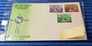 1965 Malaysia First Day Cover ITU Centenary Commemorative Stamp Issue