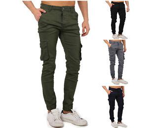 Herren Cargo Hose Chino Skinny Jogger Herrenhose Herren Jeans Slim Fit Stretch