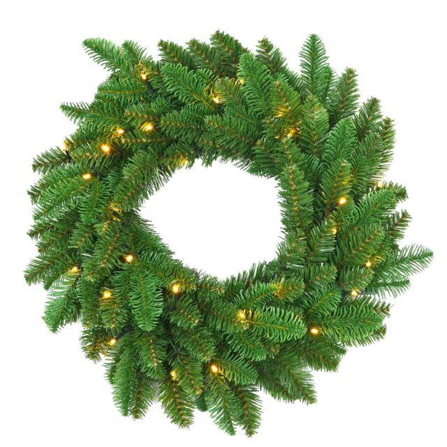 Christmas Hanging Baskets.55cm Led Pre Lit Christmas Wreath Xmas Door Hanger Wall Hanging Home Decor Uk