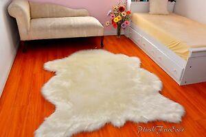 Sheepskin-Flokati-Nursery-White-Fur-Area-Rug-Baby-Rugs-Home-Accents-Throw