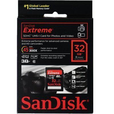 Sandisk 32G extreme C10 HD SD card for Nikon D7500 D7200 D7100 D7000 camera