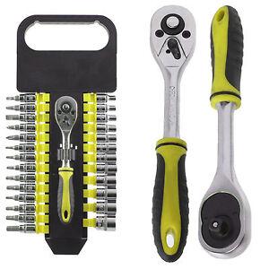 Mechanics-Ratchet-amp-Bit-Tool-Kit-Set-Precisione-Phillips-Torx-Pozi-fessurata-Hex