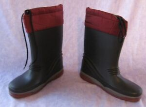 L.L. Bean Blue Burgundy Snow Boots Size 4 Warm with Felt Liner EUC ...