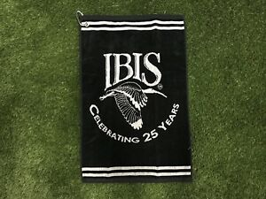 NEW-Golf-Towel-Multi-Use-Black-Gray-Clip-24-x-16-Inches-Ibis-100-Cotton